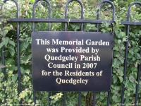 Quedgeley Memorial Garden, Quedgeley (2) (119k)